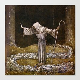 """""""Brother Martin"""" Watercolor by John Bauer Canvas Print"""