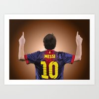 messi Art Prints featuring Messi by Scott Harris