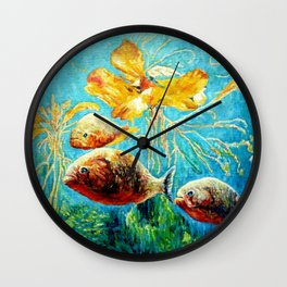 Piranhas Wall Clock