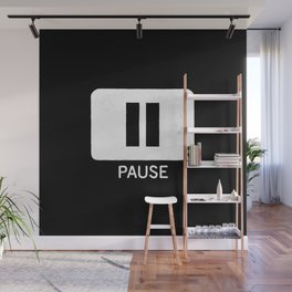 Pause Button Wall Mural