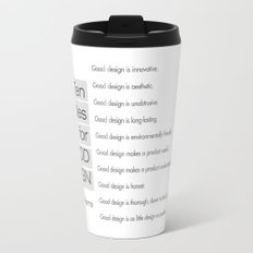 Ten principles for Good Design. By Dieter Rams Travel Mug