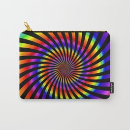 Abstract Spiral Pattern Carry-All Pouch