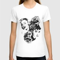 marylin monroe T-shirts featuring Marylin Monroe and Audrey Hepburn by The Völva Countess