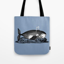 Ink Whale Tote Bag