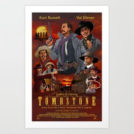 Tombstone Art Print