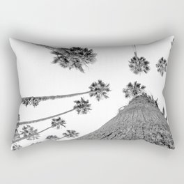 {2 of 2} Hug a Palm Tree // Tropical Summer Black and White Sky Art Print Rectangular Pillow