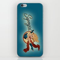 supergirl iPhone & iPod Skins featuring Supergirl Bombshell by Liquidsugar