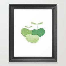 Three peas from a pod Framed Art Print