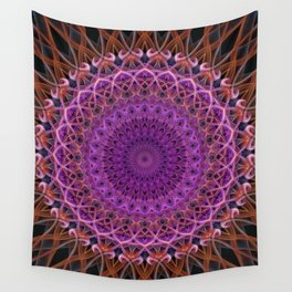 Violet and red mandala Wall Tapestry