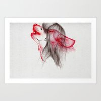strong Art Prints featuring Wildlife by The White Deer