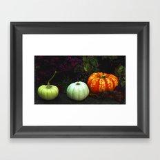 The magical pumpkins Framed Art Print