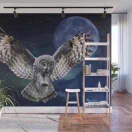 Owl in Flight Wall Mural