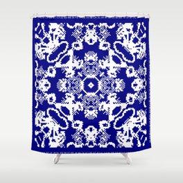 CA Fantasy Deep Blue-White series #2 Shower Curtain