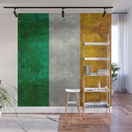 Flag of the Republic of Ireland, Vintage style Wall Mural