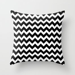Black Chevron - Baby Stimulation Pattern Throw Pillow