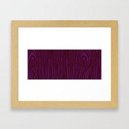 Purple Wood Grain Framed Art Print