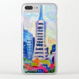 San Francisco Colors Clear iPhone Case
