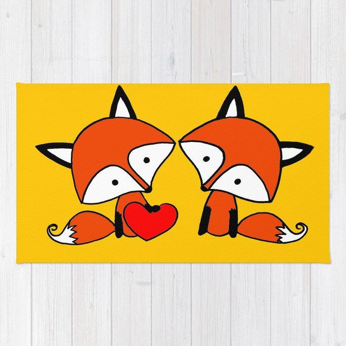 Fox Twins Rug