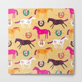 Lucky Horses Metal Print