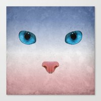 meow Canvas Prints featuring MEOW by Rosa Picnic