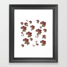 Mushrooms red and white Framed Art Print