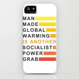 Socialist Power Grab iPhone Case