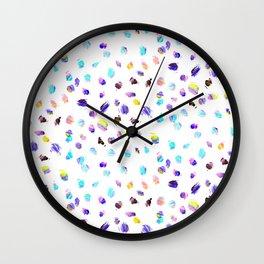 Paint Daubs Wall Clock