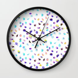 Paint Daubs Wall Clock