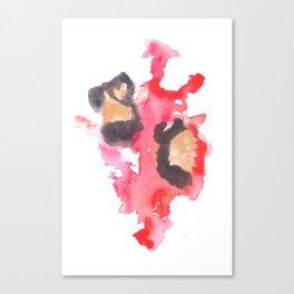 Watercolor Pink Black Flow | [dec-connect] 18. two hearts Canvas Print