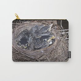 Baby robins in nest (fledglings) Carry-All Pouch