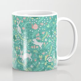 Spring Pattern of Bunnies with Turtles Coffee Mug