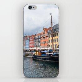 Nyhavn waterfront in Copenhagen iPhone Skin