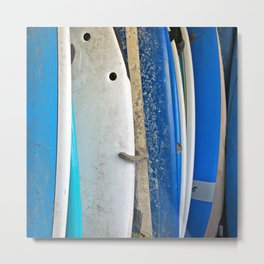 Blue Surfboards Metal Print
