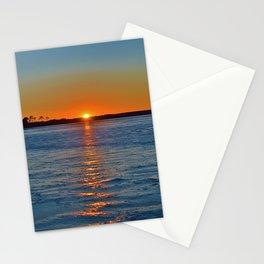 Frozen Bay Sunset Stationery Cards