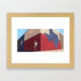 The White Hat Texan - Texas Mural - Better Call Saul Framed Art Print