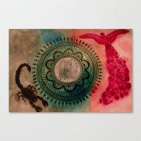 scorpio Canvas Prints featuring Scorpio by Jen Hallbrown