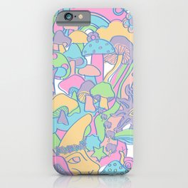 Magical Mushroom World in Kawaii Pastel iPhone Case