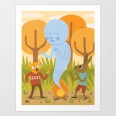 An Encounter Art Print