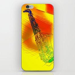 Saxophone Theme #1 iPhone Skin