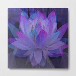 The Lotus in blue... Metal Print