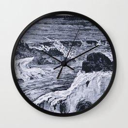Glacial River Wall Clock