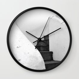 Black and White Stairs Wall Clock