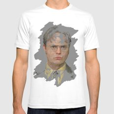 Dwight Schrute, The Office Mens Fitted Tee MEDIUM White