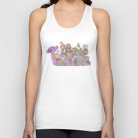 dragon age Tank Tops featuring Dragon Age - Origins Companions by Choco-Minto