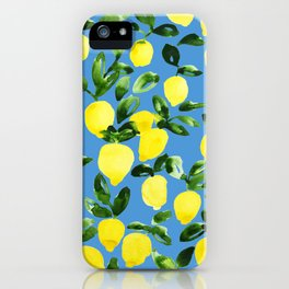 Blue Lemons iPhone Case