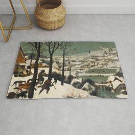Pieter Bruegel The Elder - Hunters In The Snow, Winter Rug