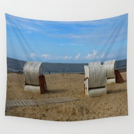 Beach Life in Autumn Wall Tapestry
