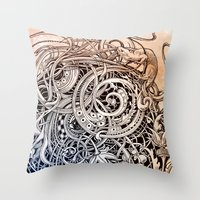antique Throw Pillows featuring Antique by Irina Vinnik
