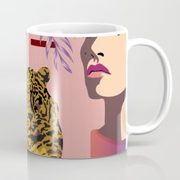 The Big Eye Leopard abstract Coffee Mug