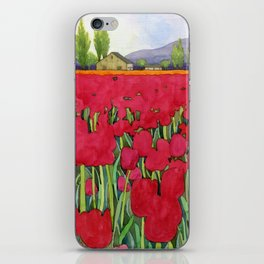 Spring tulips iPhone Skin